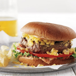 Charred-Eggplant and Beef Burgers