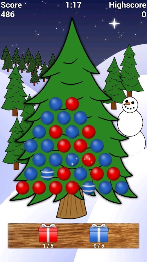 christmas tree game screenshot - Christmas Tree Game