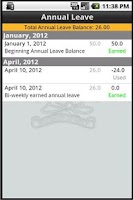Screenshot of Pro-Calendar™ UFUA Shift Calen