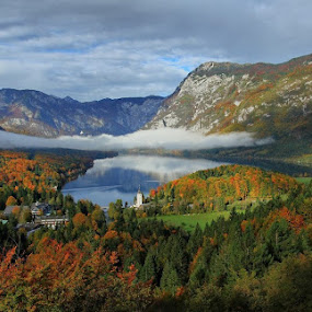 Autumn in Bohinj by Anže Papler - Landscapes Mountains & Hills