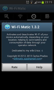 Wi-Fi Matic - Auto WiFi On Off - screenshot thumbnail