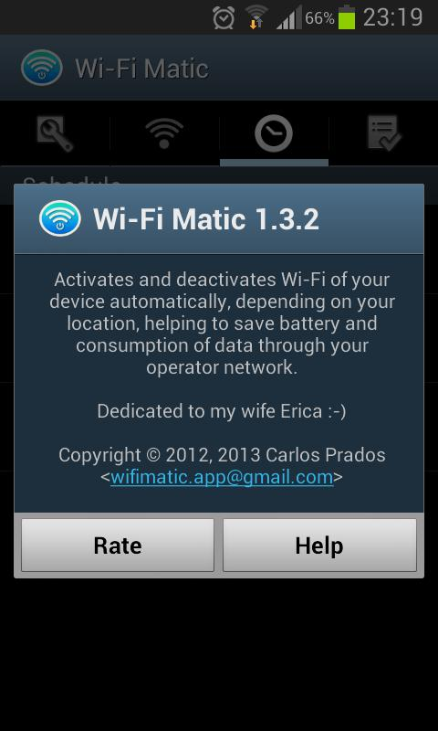 Wi-Fi Matic - Auto WiFi On Off - screenshot