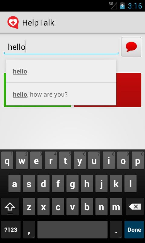 HelpTalk - screenshot