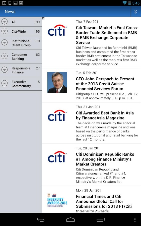 Citi News - screenshot