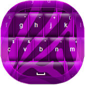 Purple Zebra Keyboard Free