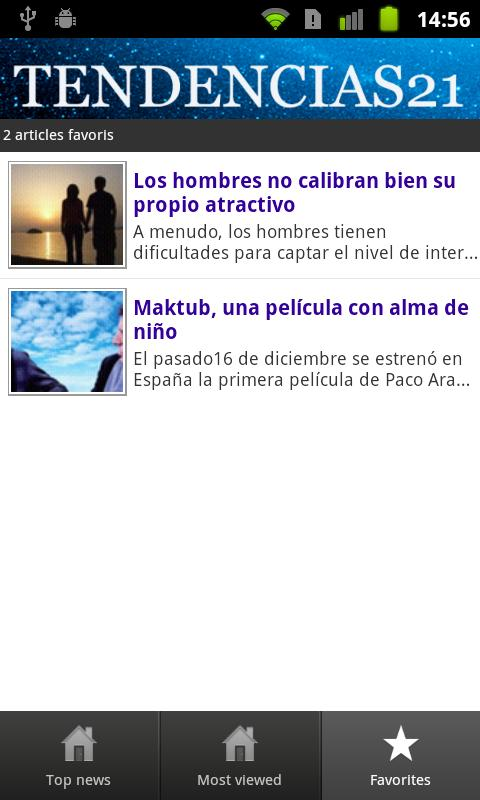 Tendencias21 - screenshot