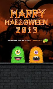 Monster Halloween GO SMS Theme- screenshot thumbnail