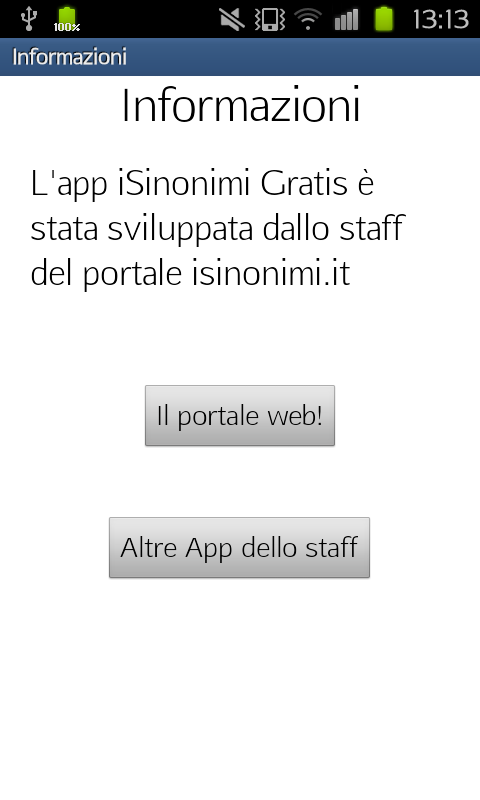 i Sinonimi Gratis- screenshot