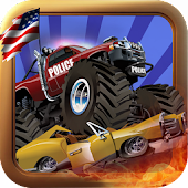 USA Police Monster truck