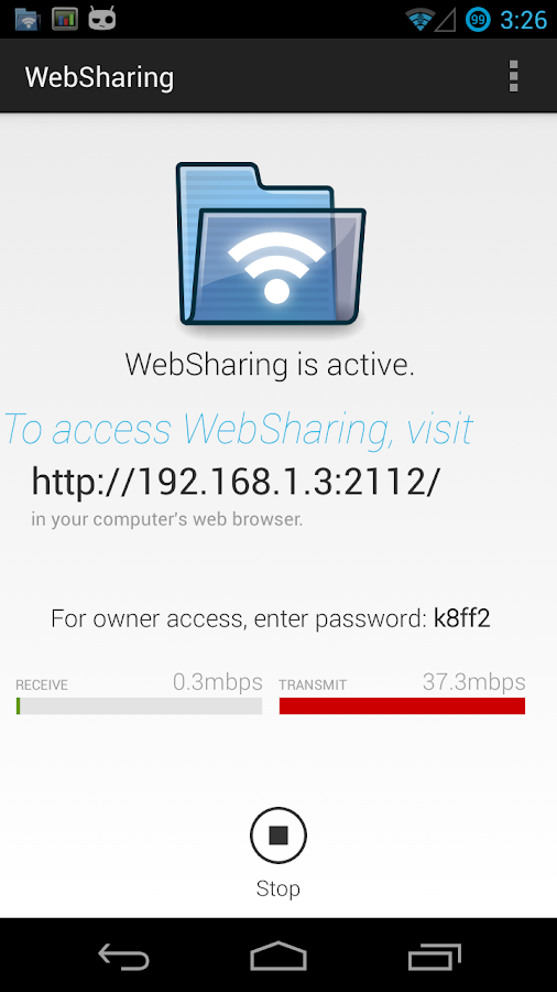 WebSharing (WiFi File Manager) - screenshot
