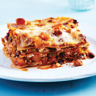 Turkey Chili & Squash Lasagna