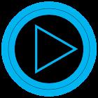 Poweramp skin TRON 蓝色 icon