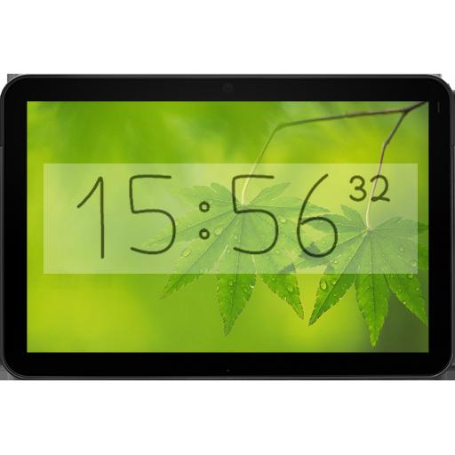 Bézier Clock live widget free