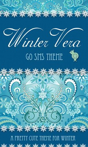 Winter Snowflake Theme GO SMS