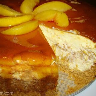 Fresh Peach Cheesecake.