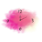 Watercolor clock-time alerts