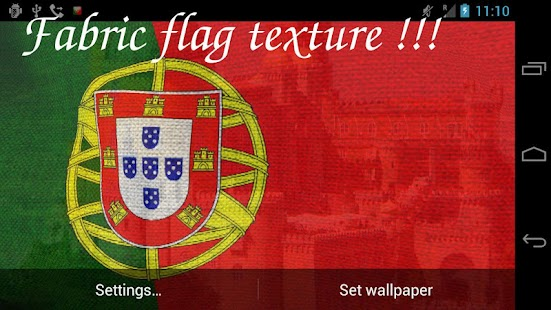 3D Portugal Flag LWP- screenshot thumbnail