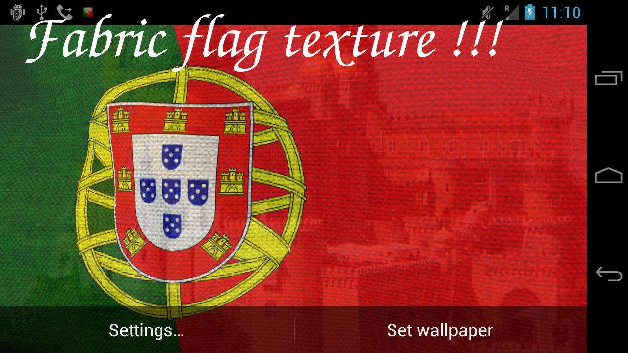 3D Portugal Flag LWP- screenshot