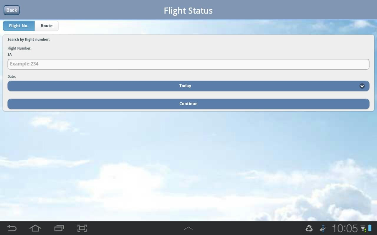 South African Airways- screenshot