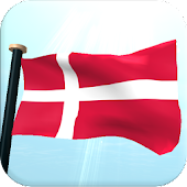 Denmark Flag 3D Free Wallpaper