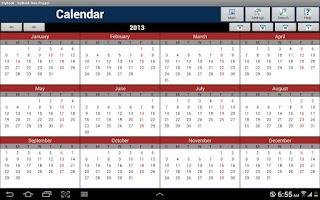 Screenshot of myBook Lite Personal Organizer