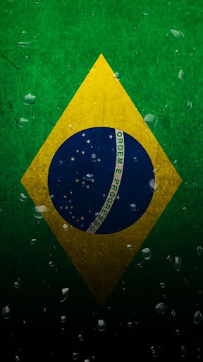 Brazil flag water effect LWP