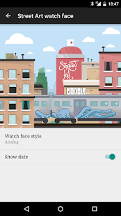 Street Art watch face- screenshot thumbnail
