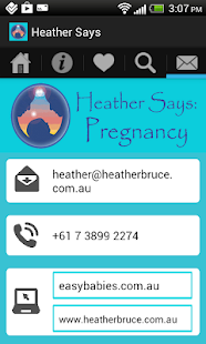Heather Says Pregnancy App- screenshot thumbnail