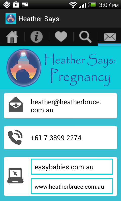 Heather Says Pregnancy App- screenshot