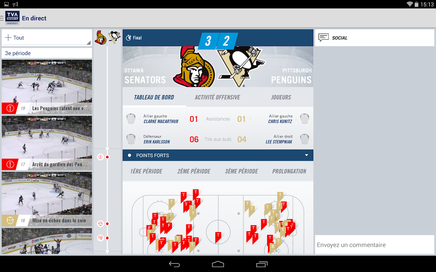 TVA Sports Hockey- screenshot