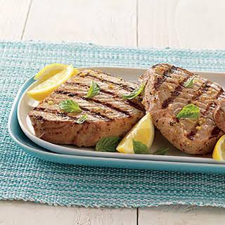 Tuna Steaks with Lemon Vinaigrette.
