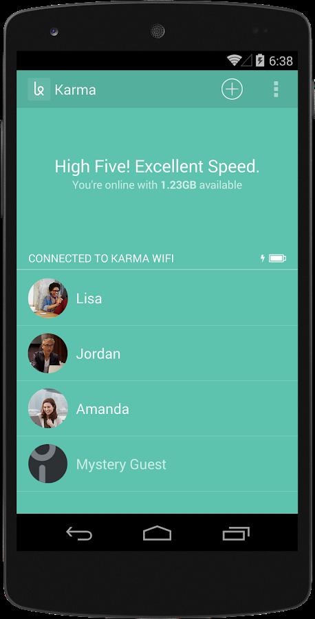 Karma WiFi - screenshot