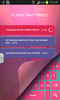 Screenshot of Keyboard for Android Pink