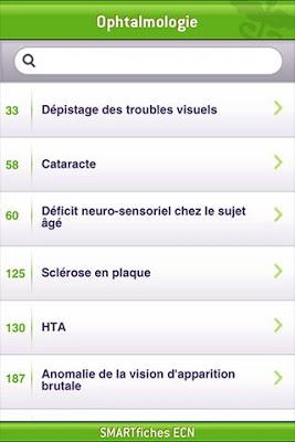 SMARTfiches Ophtalmologie Free - screenshot