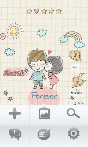 【免費娛樂App】CUKI Theme Forever Love-APP點子
