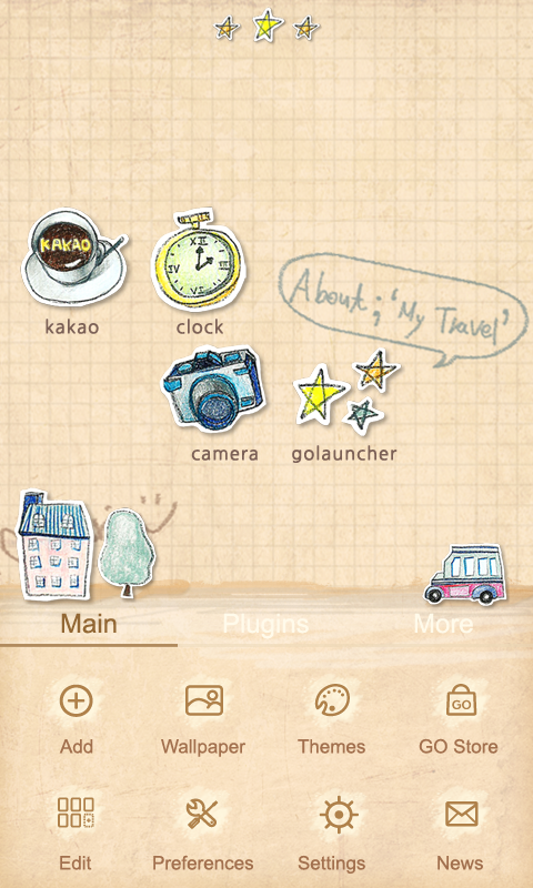 Parisien - GO Launcher Theme - screenshot