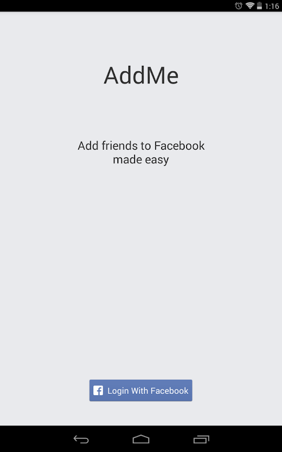 AddMe for Facebook - screenshot