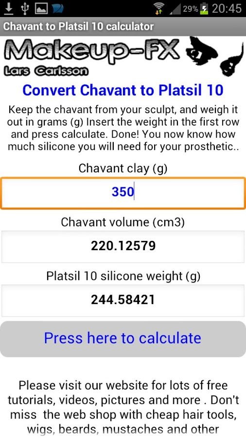 Chavant to Platsil 10 Silicone - screenshot