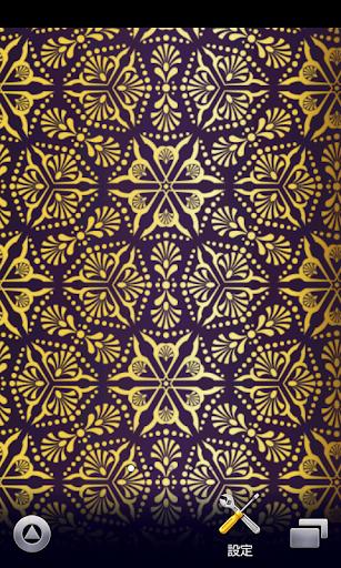 紫のダマスク柄壁紙【スマホ待受壁紙】ver42