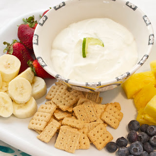 Fresh Key Lime Greek Yogurt Dip.