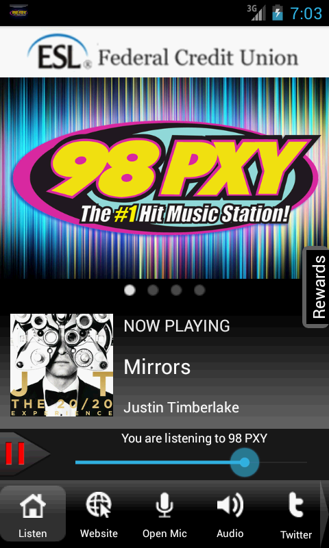 98PXY WPXY-FM Rochester's Hits - screenshot