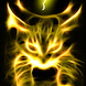 Yellow Glowing Hellfire Kitty