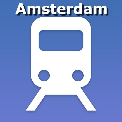 地圖阿姆斯特丹的公共交通 交通運輸 LOGO-玩APPs