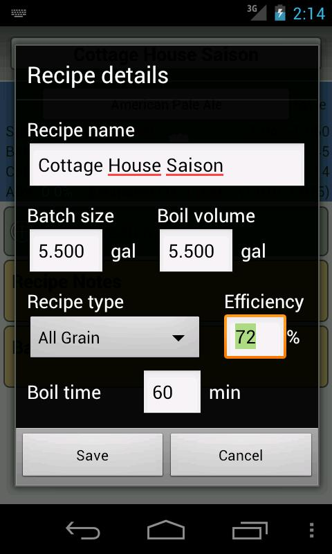 BrewR - Beer Recipe Manager - screenshot