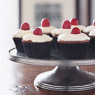 Chocolate Red-Wine Cupcakes with Mascarpone Icing