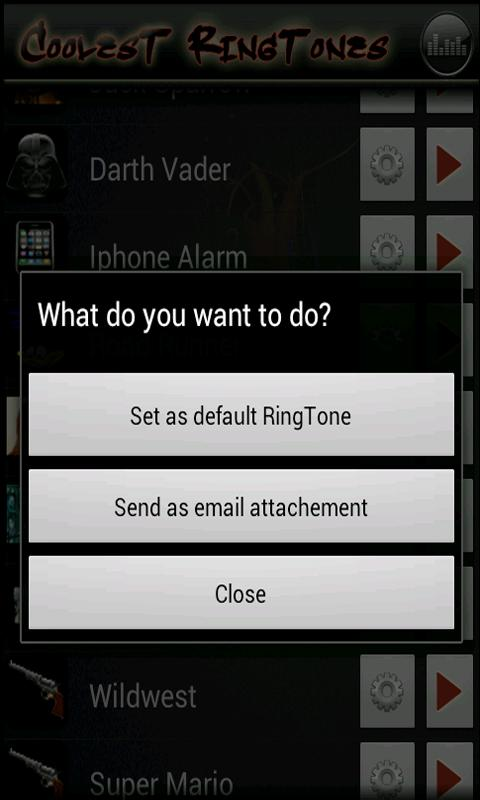 Coolest Ringtones - screenshot