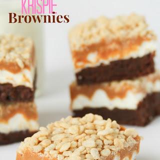 Marshmallow Caramel Krispie Brownies