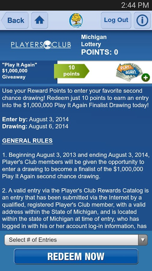 Michigan Lottery Mobile- screenshot