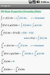 Calculus Quick Reference Free - screenshot thumbnail