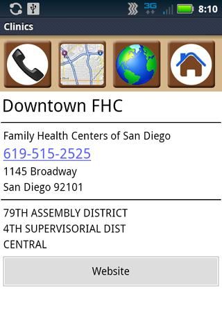 San Diego Health Services - screenshot